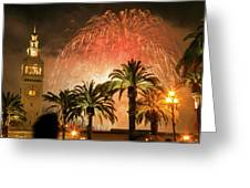 New Years Fireworks Finale San Francisco Greeting Card