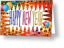 New Year's Greetings Greeting Card