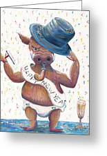 New Years Hog Greeting Card