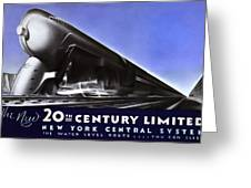 New York 20th Century Limited Train  1938 Greeting Card