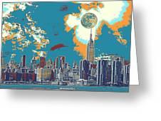 New York America  Skyline - Manhattan Greeting Card