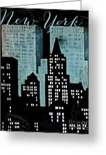 New York Art Deco Greeting Card