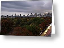 New York At Dusk Greeting Card