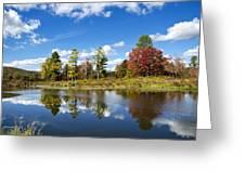 New York Autumn Landscape Greeting Card