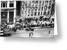 New York: Bank Run, 1930 Greeting Card