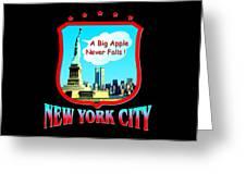 New York Big Apple Design Greeting Card