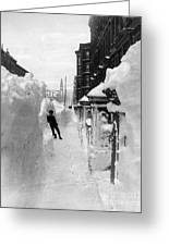 New York: Blizzard Of 1888 Greeting Card