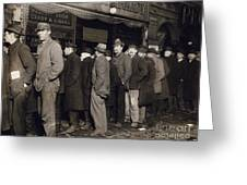 New York: Bread Line, 1907 Greeting Card