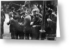 New York: Bread Line, 1915 Greeting Card