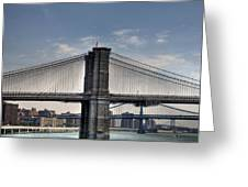 New York Bridges Greeting Card