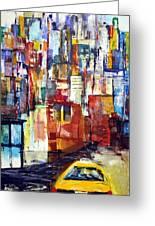 New York Cab Greeting Card