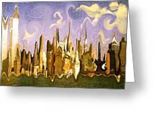New York City 2200 - Modern Art Greeting Card