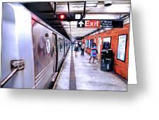 New York City Broadway Subway Station Greeting Card