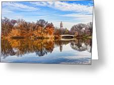 New York City Central Park Bow Bridge - Impressions Of Manhattan Greeting Card