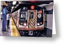 New York City Charles Street Subway Station Greeting Card