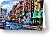 New York City Chinatown Greeting Card