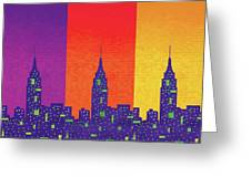New York City Empire State Sunset Greeting Card