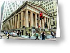 New York City Federal Hall Greeting Card