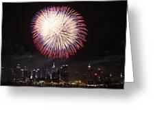 New York City Fireworks Greeting Card