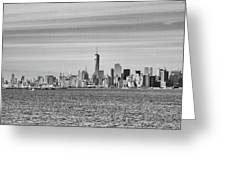 New York City From The Staten Island Ferry Greeting Card