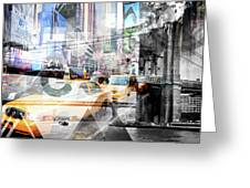 New York City Geometric Mix No. 9 Greeting Card