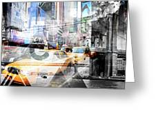 New York City Geometric Mix No. 9 Greeting Card by Melanie Viola