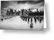New York City In Black And White Greeting Card
