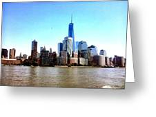 New York City Cityscape Greeting Card
