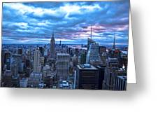 New York City Looking South Greeting Card