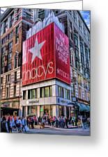 New York City Macy's Herald Square Store Greeting Card