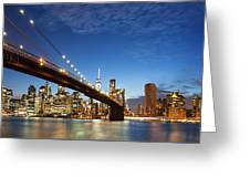 New York City Manhattan Skyline Panorama Greeting Card