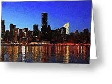 New York City Night Lights Greeting Card