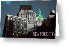 New York City Poster - Wall Street Greeting Card