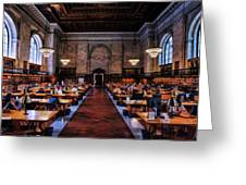 New York City Public Library Rose Reading Room Greeting Card