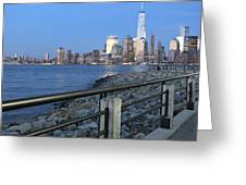 New York City Skyline From Liberty State Park In Jersey City New Jersey #4 Greeting Card