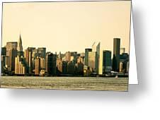 New York City Skyline Panorama Greeting Card
