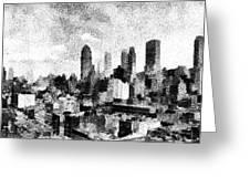 New York City Skyline Sketch Greeting Card