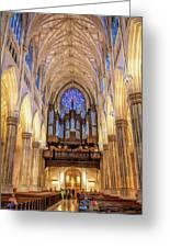 New York City St Patrick's Cathedral Organ Greeting Card