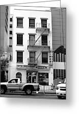 New York City Storefront Bw5 Greeting Card