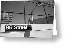 New York City Subway 86 Street Greeting Card by Ranjay Mitra