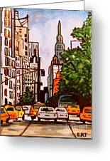 New York City Taxis Greeting Card