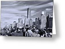 New York City Tourists Greeting Card