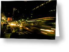 New York City Traffic Greeting Card