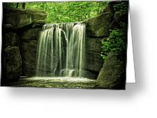 New York City Waterfall Greeting Card