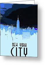 New York City X Ray Greeting Card