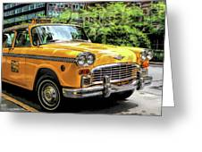 New York City Yellow Checker Taxicab Greeting Card
