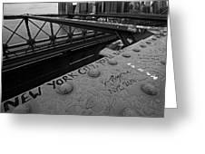 New York City You're Beautiful Brooklyn Bridge Ny Black And White Greeting Card