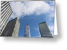 New York City's Freedom Tower - A Perspective Greeting Card