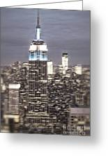 New York Empire State Building Blurred  Greeting Card