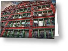 New York Fire Escapes Greeting Card